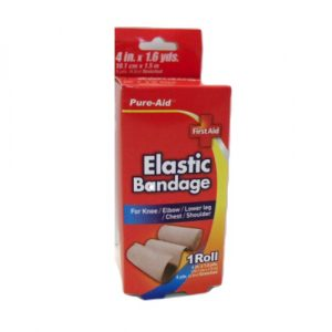 Pure-Aid Elastic Bandage 4in X 1.6 Yrds