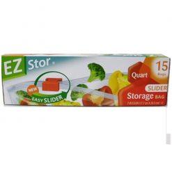 EZ Stor Storage Bags 15ct 1qt Slider