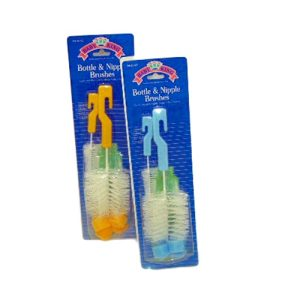 Baby Bottle AND Nipple Brushes Asst Clrs