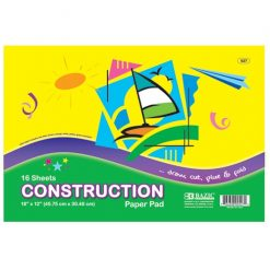 Construction Paper 18 X 12in 16 Sheets