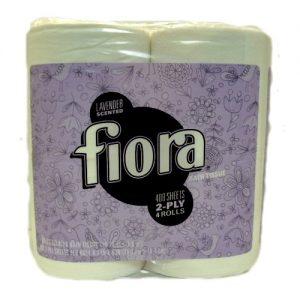Fiora Bath Tissue 4pk 290ct Lavender 2pl