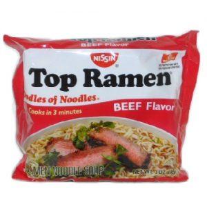Nissin Top Ramen Beef 3oz