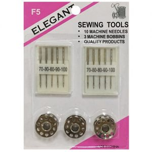 Elegant Sewing Tools 10 Needles 3 Bobbin