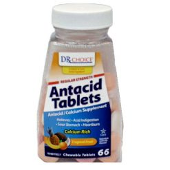 Dr. Choice Antacid 66ct Trop Fruit
