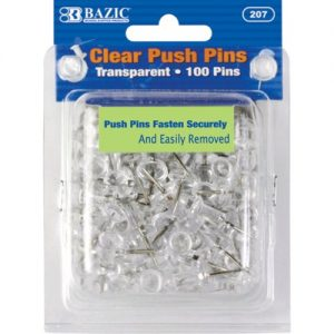 Push Pins 100ct Clear