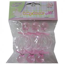 Baby Pacifier 6pc Pink B-S Decoration