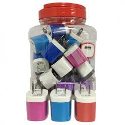 USB Wall Charger In Jar Asst Clrs