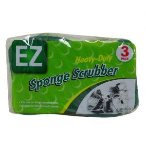 EZ Sponge Scrubber 3pk Heavy Duty