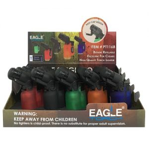 Eagle Torch Lighters Asst Clear Clrs