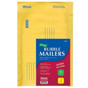 Bubble Mailers 2pk 9.5 X 13.5in Ylw
