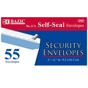 Security Envelopes 55ct 6 ? Peel AND Seal