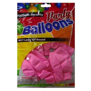 Party Balloons 10ct 12in Pink Helium