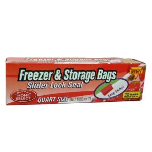 H.S Freezer AND Storage Bags 15ct 1qt