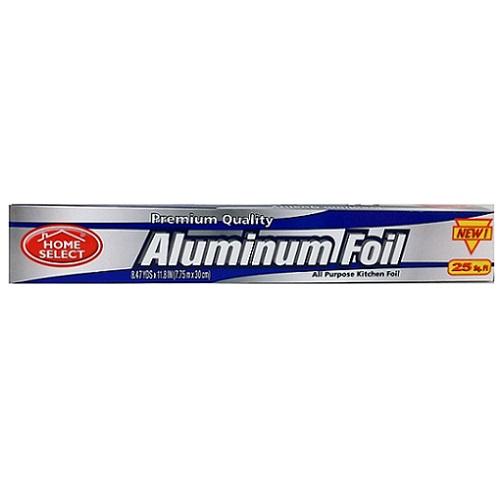 Home Select Aluminum Foil 25sq Ft