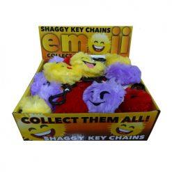 ***Emoji Shaggy Key Chain Asst