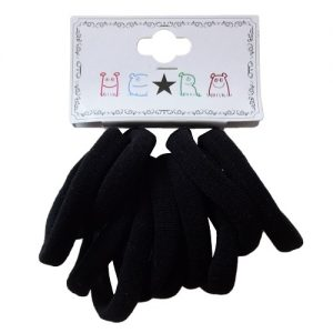 Hair Elastic Bands 10pc Black