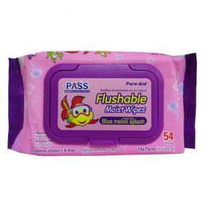 Pure-Aid Flushable Wipes 54ct Pink