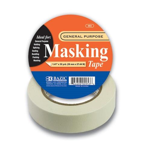 Bazic Masking Tape 1.41in X 30yrds