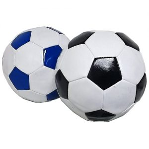 Toy Soccer Leather Balls 4 Asst Clrs