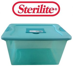 Sterilite Storage Box 64qt Aqua Fresh Sc