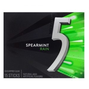 Wrigleys 5 Gum Spearmint Rain 15pc