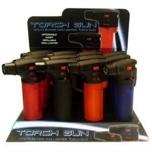 Lighter Torch Gun Asst Clrs