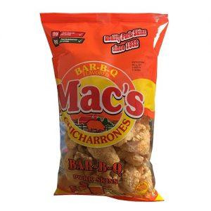 Macs Pork Skins 3oz Bar-B-Q