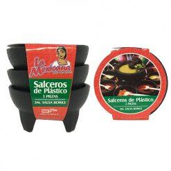 Salsa Bowl 3pk Plastic La Mexicana
