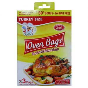 Home Select Oven Bags 3ct Turkey Size
