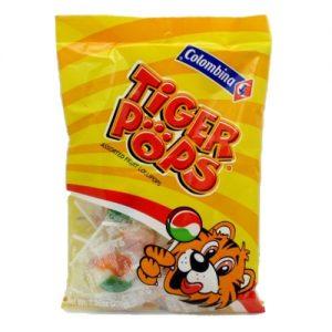 Colombina Tiger Lollipops Asst 7.06oz