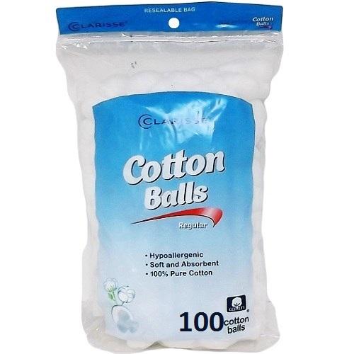Clarisse Cotton Balls 100ct Triple Size
