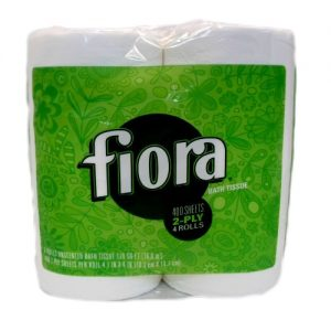 Fiora Bath Tissue 4pk 290ct Green 2ply