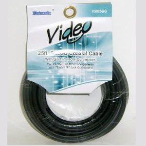 Coaxial Cable 25ft Black RG59U