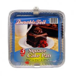 D. Foil Square Can Pan 3pk