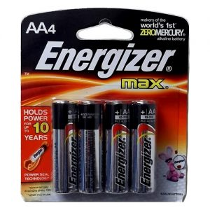 Energizer Max Batteries AA 4pk