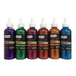 Craftology Glitter Glue 6oz Asst
