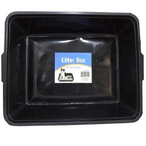 Cat Litter Box Blk 18.125in X 13 X 3.5in