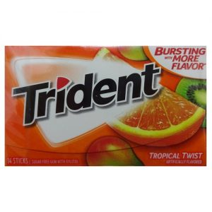 Trident Gum 14ct Tropical Twist Flvr