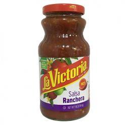 La Victoria 16oz Red Salsa Ranchera Hot