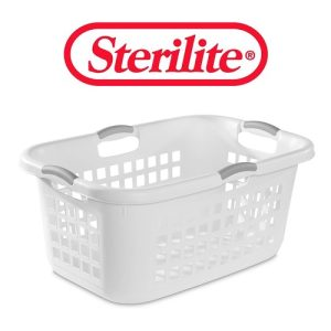 Sterilite Laundry Basket 2 Bush White