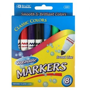 Washable Markers 8ct Asst Clrs