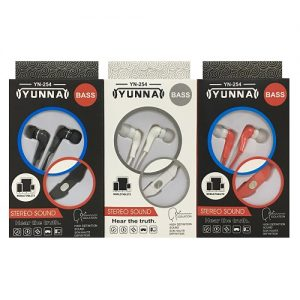 Yunna Earphones Bass Asst Clrs YN-254