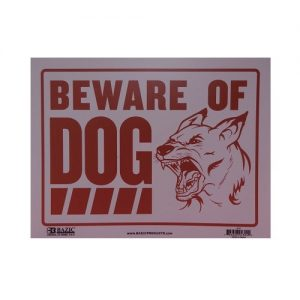 Sign BEWARE OF DOG 9 X 12in