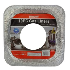 ***Gas Liners 10pc Square Aluminum