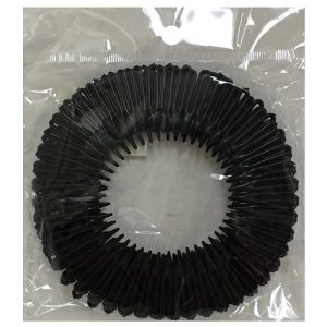 Hair Bands Plastic Black