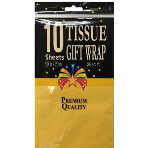 Tissue Paper 10ct Yellow 20 X 20in