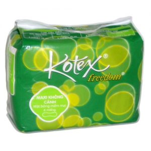 Kotex Freedom 8ct Maxi Pads N-Wings