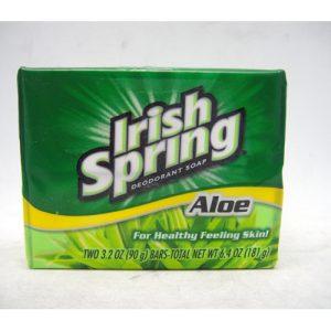 Irish Spring Bath Soap 2pk 3.2oz Aloe