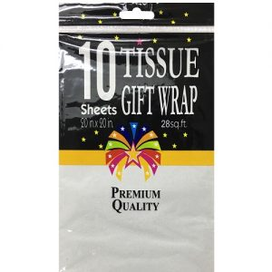 Tissue Paper 10ct White 20 X 20in