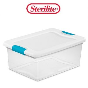 Sterilite Latching Box 15qt Clear